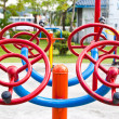 Kids playground in urban autumn park — Stock Photo