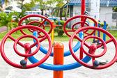 Kids playground in urban autumn park — Foto de Stock