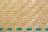 Texture of bamboo weave, background — Stok fotoğraf