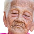 Portrait of a worried old woman with a sad expression — Stock Photo #37913965