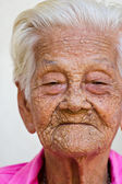 Old woman happy , — Stock Photo