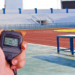 Stock Photo: Stopwatch in athletics field