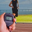 Stopwatch in athletics field — Stock Photo #37921915