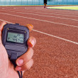 Stopwatch in athletics field — Stock Photo #37922015