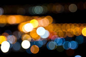 Abstract circular bokeh lights background of Christmaslight. — Foto Stock