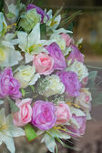 Bouquet of the roses in room — Stock Photo