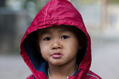 Asian boy on a cold winter day — Foto Stock