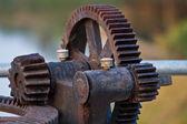 金属齿轮齿轮的特写 — 图库照片