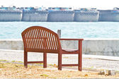 Bench by sea — Stock Photo
