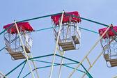 Ferris wheel with sunlight — Stock Photo