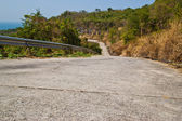 Cement road on hill — Stock Photo