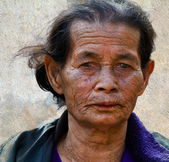 Smiling old woman — Foto de Stock