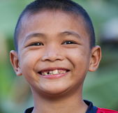 Portrait of the cheerful boy — Stock Photo