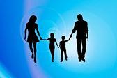 Famiglia astratto — Foto Stock