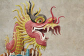 Chinese style dragon statue at chonburi — Stock fotografie