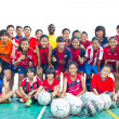 Group team footballer youth woman team Chonburi picture — Foto de stock #40013015