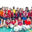 Group team footballer youth woman team Chonburi picture — 图库照片 #40013015