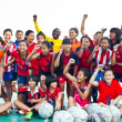 Group team footballer youth woman team Chonburi picture — Foto Stock