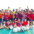 Group team footballer youth woman team Chonburi picture — Photo