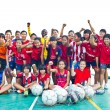 Foto de Stock  : Group team footballer youth woman team Chonburi picture