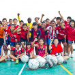 Group team footballer youth woman team Chonburi picture — Foto de Stock