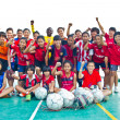 Stockfoto: Group team footballer youth woman team Chonburi picture