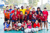 Group team footballer youth woman team Chonburi picture — Stock Photo