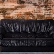 Nice and luxury leather sofa — Stock Photo