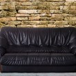 Stock Photo: Nice and luxury leather sofa