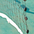 Net in rattan court — Stock Photo