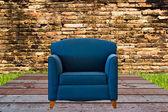 Agradable y sofá de cuero de lujo — Foto de Stock