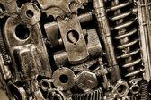 Closeup of metal gears — Stock Photo