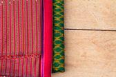 Güzel doku yakın çekim ve çok renkli ipek kumaş — Stok fotoğraf