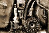 Closeup metal vites — Stok fotoğraf