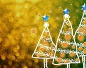 Shinny Christmas Tree, abstract background — Foto de Stock
