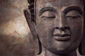 Buddha face makes of wax — 图库照片