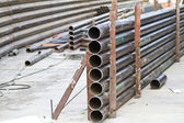 Metal tube - industrial background — Stock Photo