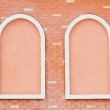 New window on cement wall background — Stock Photo #48019379
