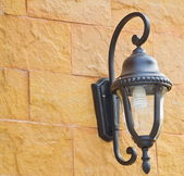 Vintage wall lamp on the wall — Stock Photo