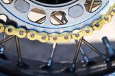 Motor of motorfiets keten. ideaal voor abstracte achtergrond — Stockfoto