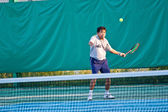 Tennis court at chonburi thailand — Stock Photo