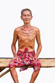 Portrait of attractive elderly man — Stock Photo