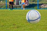 Flickor fotboll — Stockfoto