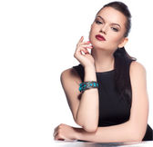 Model posing in exclusive jewelry — Stock Photo
