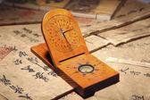 Close-up of ancient chinese sundial — Stock Photo