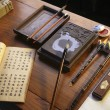 Ancient Chinese calligraphy objects — Stock Photo