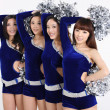 Portrait of asian cheerleaders — Stock Photo