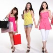 Pretty asian women go shopping - Stock Photo