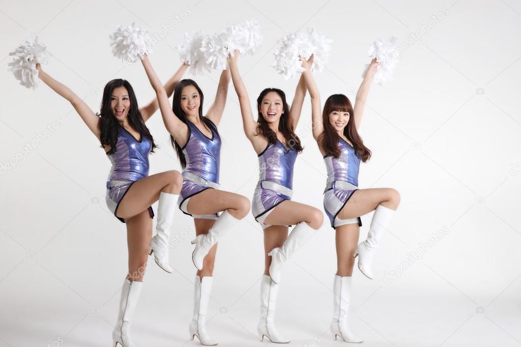 Cheerleader lesbian asian