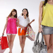 Young asian women go shopping - Stock Photo